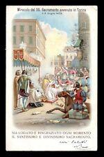 antica cartolina MIRACOLO SS. SACRAMENTO IN TORINO NEL 1453