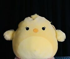 "NWT Squishmallows Kellytoy AIMEE 12"" Yellow Chick Chicken Peep Plush Doll"