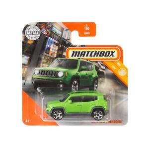 2019 Jeep Renegade Green 2020 Matchbox MBX City MB1199 #1 Short Card