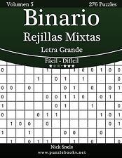 Binario: Binario Rejillas Mixtas Impresiones con Letra Grande - de Fácil a...