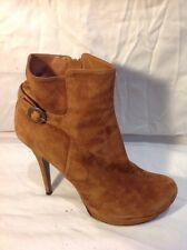 Dune Brown Ankle Suede Boots Size 40