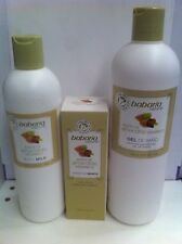 BABARIA ALMENDRAS LOTE 3 PIEZAS, BODY MILK 400 ML GEL 600 ML CR.MANOS 100 ML