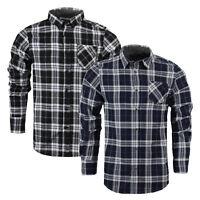 Mens Long Sleeve Shirt Brave Soul Vivary Brushed Cotton Flannel Check Lumberjack