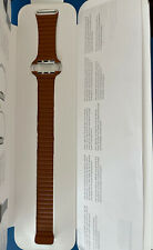 Genuine  Apple 44mm Saddle Brown Leather Loop Watch Band Strap - Large