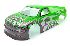 "RC Car carrocería 1:10 ""Venom t-10 pick up"" en verde 190mm ancha # hx029g"