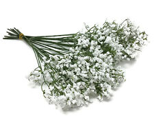 12 Stems Artificial White Gypsophila Silk Flower Bunch Baby's Breath