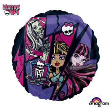 Monster High Birthday Party Round Foil Balloon 43cm Anagram HeXL Helium Standard