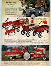 1963 PAPER AD Wagon Coaster Stake Pedal Tractor Air Force Jeep Hawthorne Steel