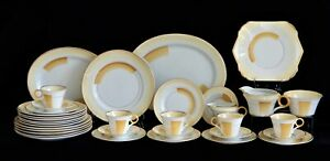 Art Deco 1930s Shelley dinner ware set and Tea set, Patches and Shades 12248