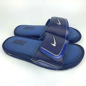 Nike Comfort Slides Sandals Blue Shoes 415205-402 Mens Size 8