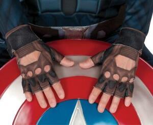 Captain America Gloves Civil War Superhero Halloween Adult Costume Accessory