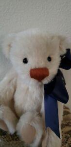 """Angels Teddy Snowball 11""""  Mohair Teddy Bear LE"""