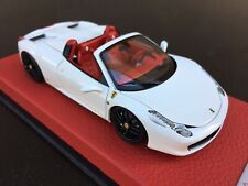 1/43 BBR Ferrari 458 Spider, Avus White, MR LOOKSMART TECNOMODEL MAKEUP D&G