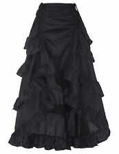 Women Ladies Long Vintage Gothic Victorian Style Steampunk A-Line Dress SKIRT