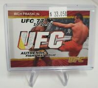 2009 Topps UFC Fight Mat Relics Gold #FMRF Rich Franklin 50/199
