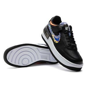 Nike Air Force 1 Shadow SE Pixel Swoosh Black White CV8480 001 Women's Size 9