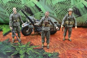 Ultimate Soldier 21st Century Action Figure Lot 1:18 WW2 Military Motorcycle
