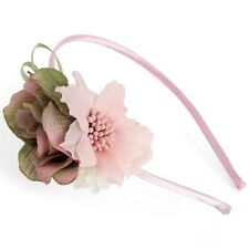 Dusty Pink Flower HairBand wth Beads Wedding Party Prom Tiara Festival