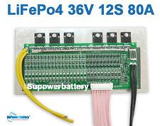 36V 80A LiFePo4 Battery BMS LFP PCM SMT System 12S 12x 3.2V eBike Battery 12x 3V