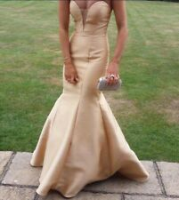 Jovani gold prom dress uk size 4-6 professionally cleaned rrp £600