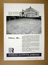 1957 161st Infantry Armory Spokane photo Robbins Flooring vintage print Ad