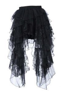 RQ-BL Steampunk Gothic Rock schwarz lang Spitze Vintage Kostüm Verkleidung 21089
