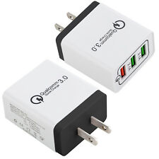 2x 3-Port USB Wall Charger with Quick Charge 3.0 Ports For iPhone X Samsung LG