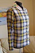 BODEN Womens PJ's Nightshirt Blue Yellow Tartan Check Pink Collar Sz Small