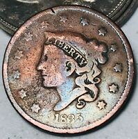 1835 Large Cent Coronet Head of 1836 1C Good Date Early US Copper Coin CC5485