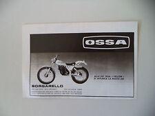 advertising Pubblicità 1981 MOTO OSSA TRIAL 350