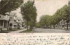 Postcard Indiana Goshen Corner Jefferson & Sixth Streets c1901-07 Elkhart County