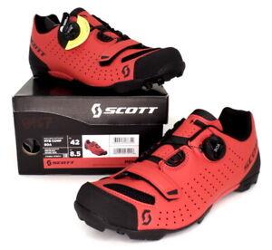 Scott MTB Comp Boa Mountain Bike Shoes Red/Black Men's Size 8.5 US / 42 EU