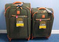 "IT Bermuda Luxurious Lightweight 2 Piece Suitcase Set - Olive 28"" + 24"" RRP £589"