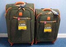 "IT Bermuda Luxurious Lightweight 2 Piece Suitcase Set - Olive 28"" + 24"" RRP £589"
