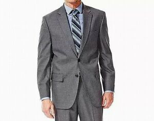 J.M. Haggar Mens Suit Separate Gray Size 42 Short Jacket Stretch $220 184