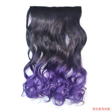 """Ombre Clip In Hair Extensions Full Head 20"""" Long Wavy Curly Hairpieces Synthetic"""