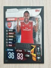 MATCH ATTAX 19/20 RARE AUBAMEYANG SILVER LIMITED EDITION LE8S - MINT