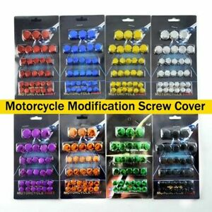 30PCS/Set Motorcycle Head Screw Cover Decorative Parts for Car Styling-Cover