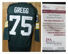 FORREST GREGG GREEN BAY PACKERS #75 AUTOGRAPHED XL JERSEY WITH CERTIFICATION JSA