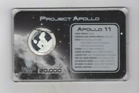 CASED AMERICAN MINT PROJECT APOLLO 11 SILVER PLATED MEDAL.