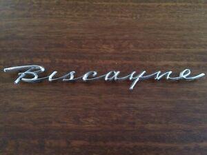 Biscayne emblem 1958 chevrolet chevy bel air