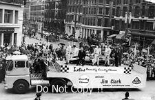 Jim CLARK Champion du monde Victory Parade par Norwich City 1963 photographie