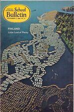 national geographic-SCHOOL BULLETIN-nov 11,1968-FINLAND.