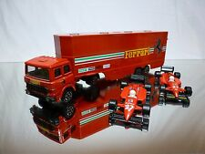 POLISTIL RJ 101 FIAT TRUCK TRANSPORTER - FERRARI RACING TEAM  - GOOD CONDITION