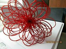 HOLIDAY RED   BEADED  FLOWER PICK SPRIG CHRISTMAS