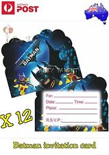 12 X BATMAN MOVIE PARTY INVITATION CARD BATMAN MOVIE  PARTY SUPPLIES
