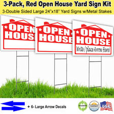 3 Pack Open House Lawn Sign Kit