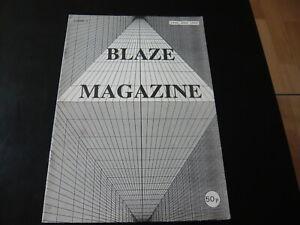 BLAZE MAGAZINE ISSUE 2 1992...UK RAVE CULTURE HARDCORE DANCE MUSIC FANZINE