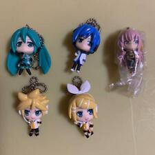 Japanese Vocaloid Hatsune Miku ProjectDIVA F Figure Key chain strap set of 5