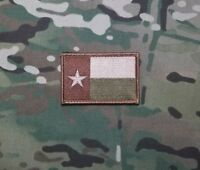 Texas Multicam Embroidered Patch Tan Green Tactical  Military Patch
